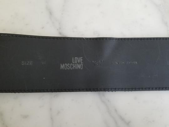 Love Moschino Love Moschino Leopard Cow Hair Leather Belt Image 2