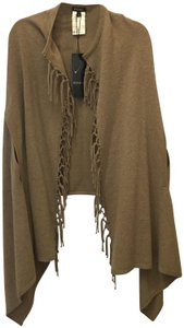 Escada Wool Silk Blend Tassles Size S Small 4-6 New With Tags Cape