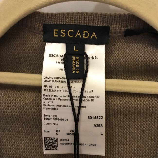 Escada Shawl Wool Silk Blend Tassles Size L Large 14-16 New With Tags Cape Image 2