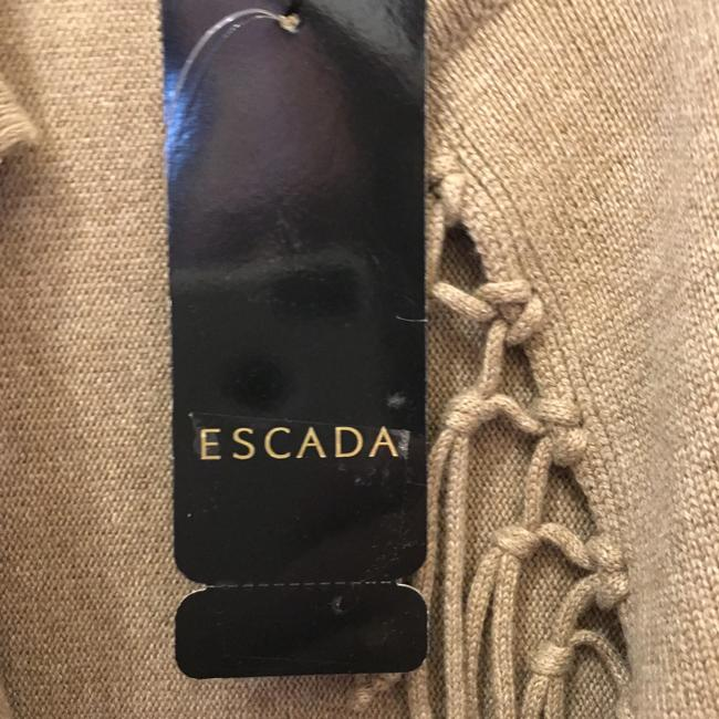 Escada Shawl Wool Silk Blend Tassles Size L Large 14-16 New With Tags Cape Image 3