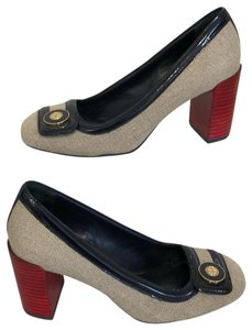 Tory Burch NAVY RED NEUTRAL Pumps