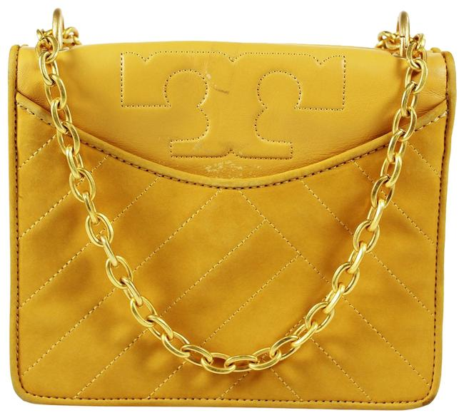 Item - Alexa Suede Convertible Yellow Leather Shoulder Bag