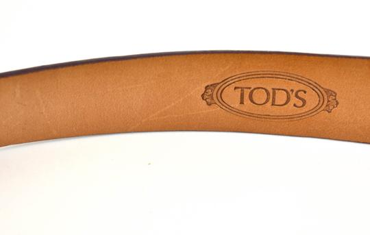 Tod's Leather & Silver Metal Logo Buckle, Image 7