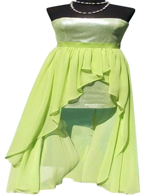 Item - Apple Green Sequin Encrusted Event New Hi Low Lined 6/8/10 S/M Long Night Out Dress Size 8 (M)