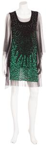 Givenchy Sequins T Shirt Black and Green