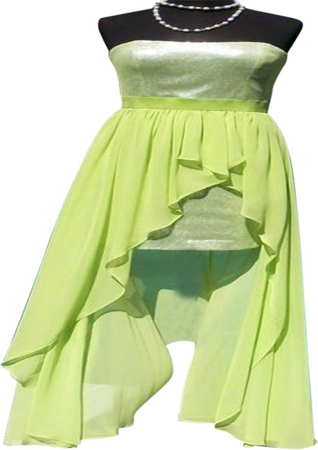 Item - Apple Green L Sequin Encrusted Event New Hi Low Lined 10/12/14 M/L Long Night Out Dress Size 12 (L)