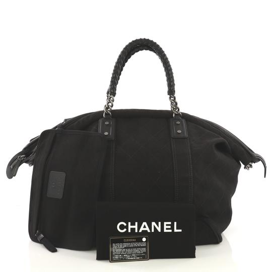 Chanel Travel/Weekender Canvas black Travel Bag Image 1