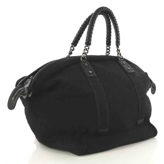 Chanel Travel/Weekender Canvas black Travel Bag Image 2