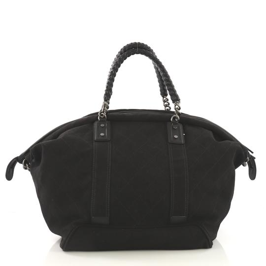 Chanel Travel/Weekender Canvas black Travel Bag Image 3