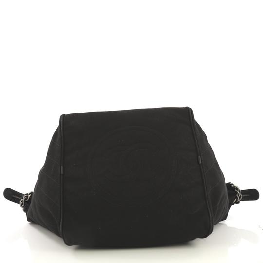 Chanel Travel/Weekender Canvas black Travel Bag Image 4