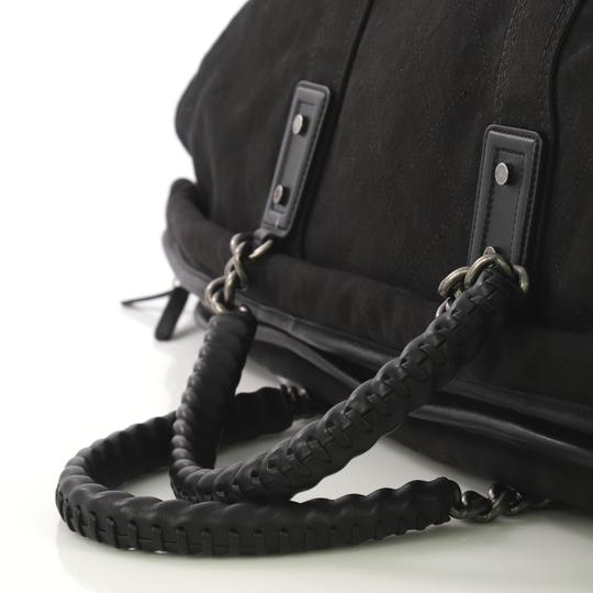 Chanel Travel/Weekender Canvas black Travel Bag Image 5