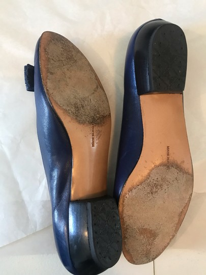 Salvatore Ferragamo Ballet Leather Varina Blue Pumps Image 3