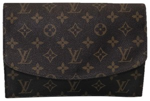 Louis Vuitton Rabat Pochette Rabat 23 Monogram Pouch Brown Clutch