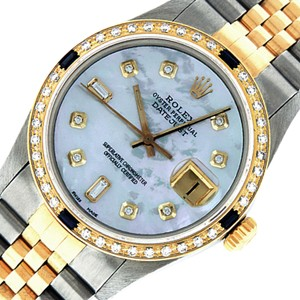 Rolex Mens Datejust Ss/Yellow Gold with MOP Diamond Dial Watch