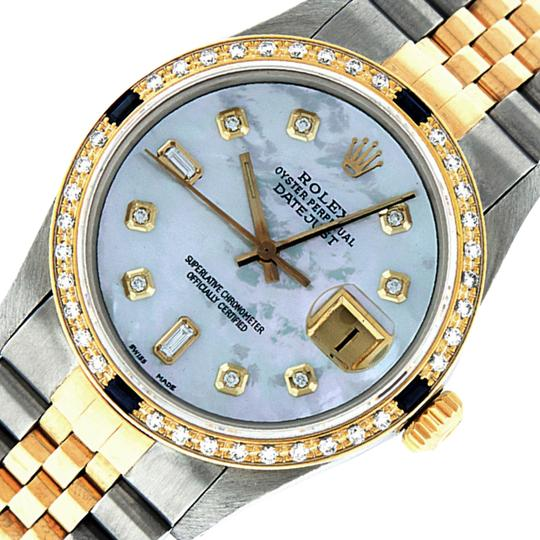 Rolex Mens Datejust Ss/Yellow Gold with MOP Diamond Dial Watch Image 0