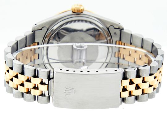 Rolex Mens Datejust Ss/Yellow Gold with MOP Diamond Dial Watch Image 4