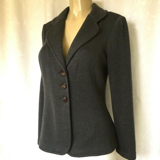 St. John Jacket Sweater Knit gray Blazer Image 2