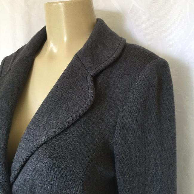 St. John Jacket Sweater Knit gray Blazer Image 3
