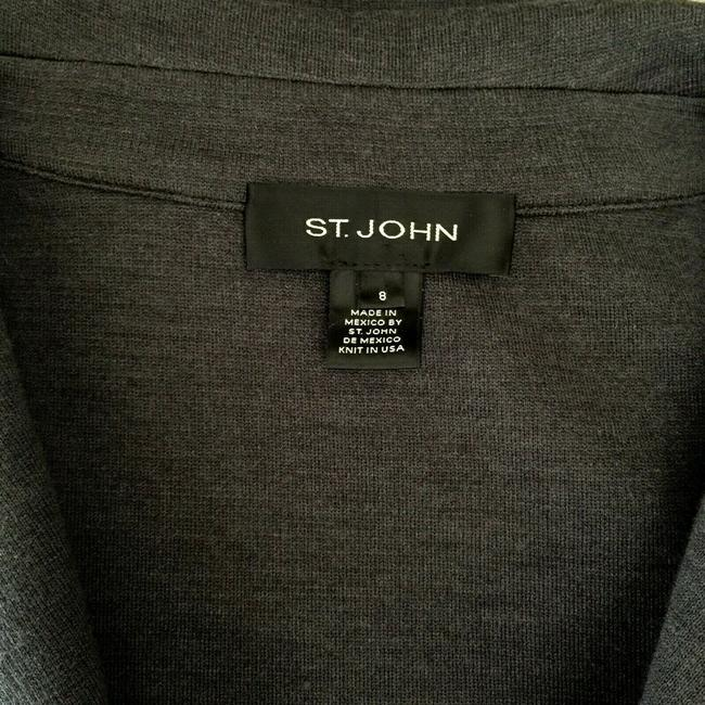 St. John Jacket Sweater Knit gray Blazer Image 4