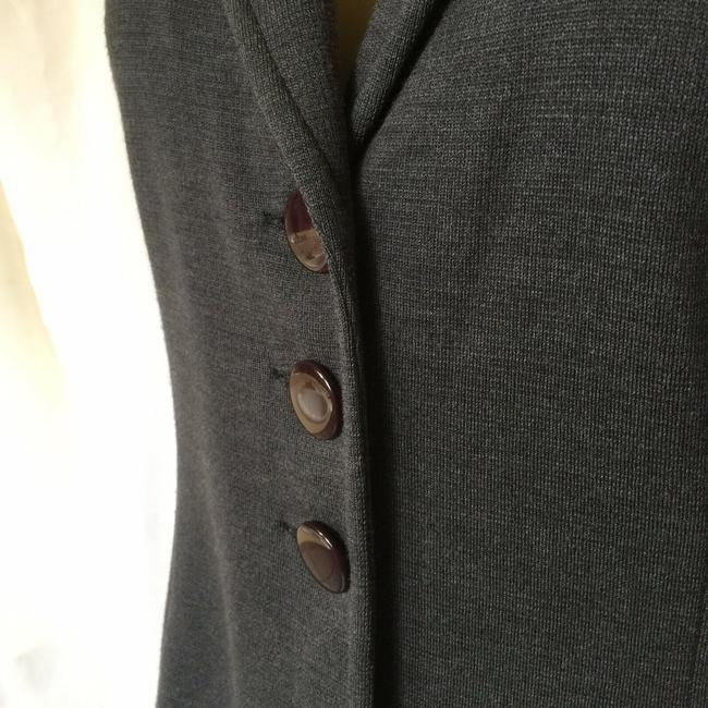 St. John Jacket Sweater Knit gray Blazer Image 5
