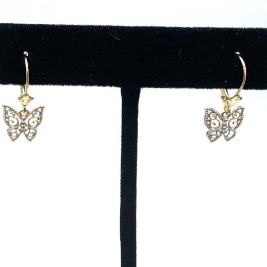 Other (925) 14k yellow gold butterfly earrings Image 1