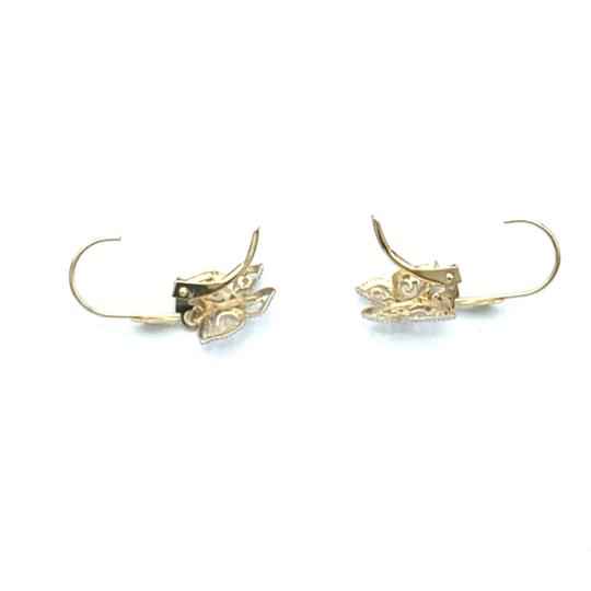 Other (925) 14k yellow gold butterfly earrings Image 2