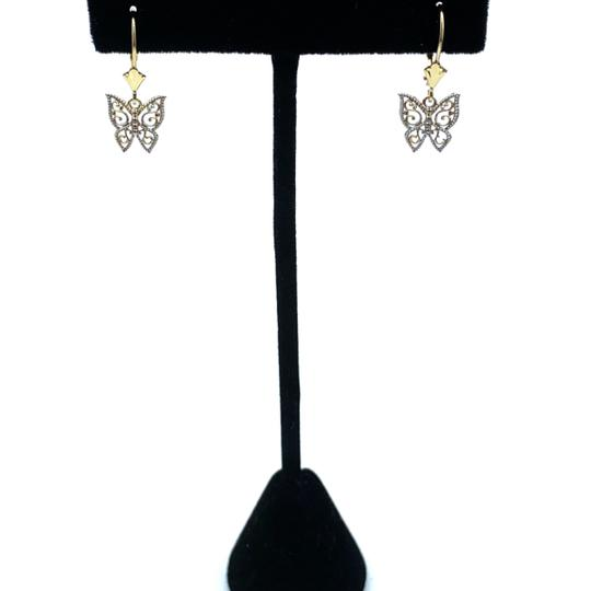 Other (925) 14k yellow gold butterfly earrings Image 3