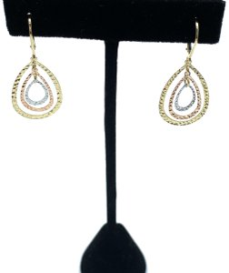 Other (926) 14k tri color gold layered earrings
