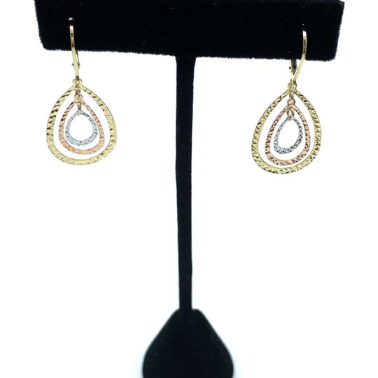 Other (926) 14k tri color gold layered earrings Image 1