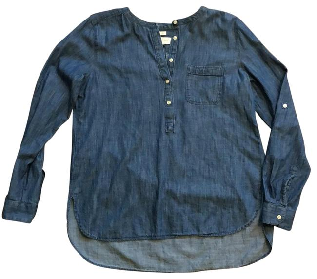 Item - Blue The Softened Shirt Denim Tunic Size 6 (S)