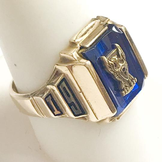 Other GORGEOUS!! LIKE NEW 14 Karat Yellow Gold 1969 School Ring with Blue Stone Image 2