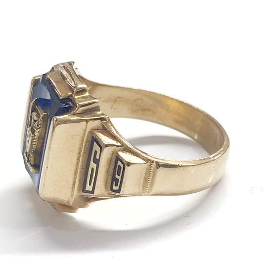Other GORGEOUS!! LIKE NEW 14 Karat Yellow Gold 1969 School Ring with Blue Stone Image 4