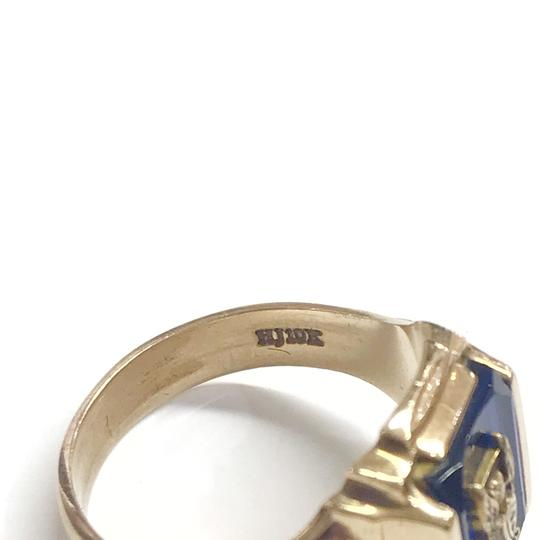 Other GORGEOUS!! LIKE NEW 14 Karat Yellow Gold 1969 School Ring with Blue Stone Image 5