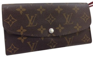 Louis Vuitton Wallet Wallets Portefeuille Emilie Monogram Brown Clutch