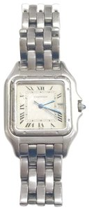 Cartier Gently Used Cartier Stainless Steel Panther Wristwatch