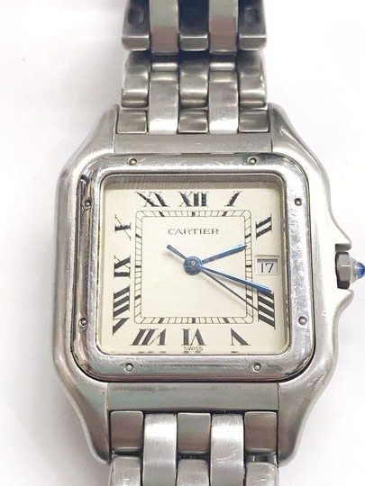 Cartier Gently Used Cartier Stainless Steel Panther Wristwatch Image 4