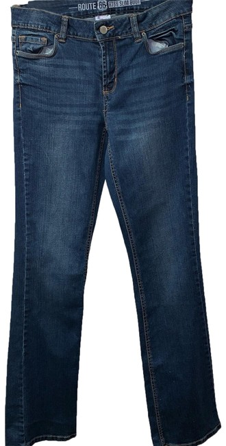 Preload https://img-static.tradesy.com/item/25375010/route-66-blue-42000-boot-cut-jeans-size-2-xs-26-0-1-650-650.jpg