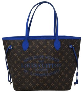 Louis Vuitton Neverfull Mm Neverfull Neverfull Ikat Ikat Limited Edition Tote in Blue