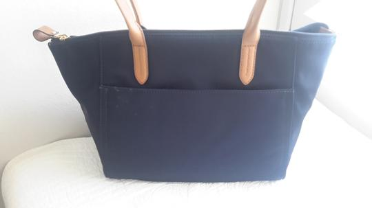 Michael Kors Leather Tote in Navy/Brown Image 4