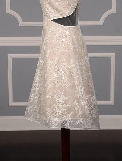 Nha Khanh Ivory and Champagne Lace Tulle Melissa Modern Wedding Dress Size 8 (M) Image 5