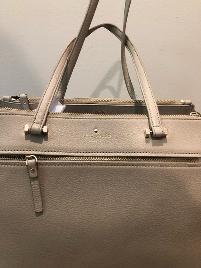 Kate Spade Satchel in Off White and Grey Image 1