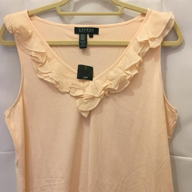 Lauren Ralph Lauren V-neck Ruffle Detail Size L Large New With Tags Top Pale Pink Image 1
