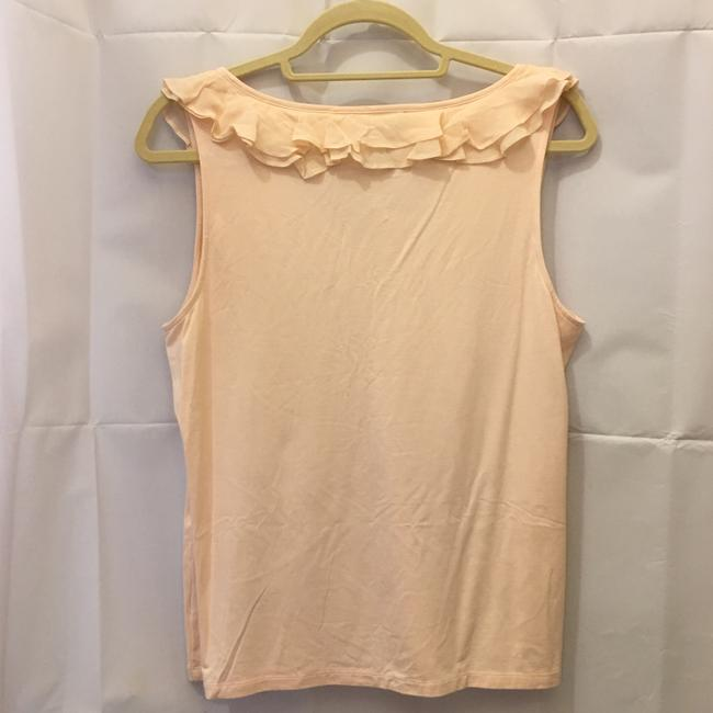 Lauren Ralph Lauren V-neck Ruffle Detail Size L Large New With Tags Top Pale Pink Image 6
