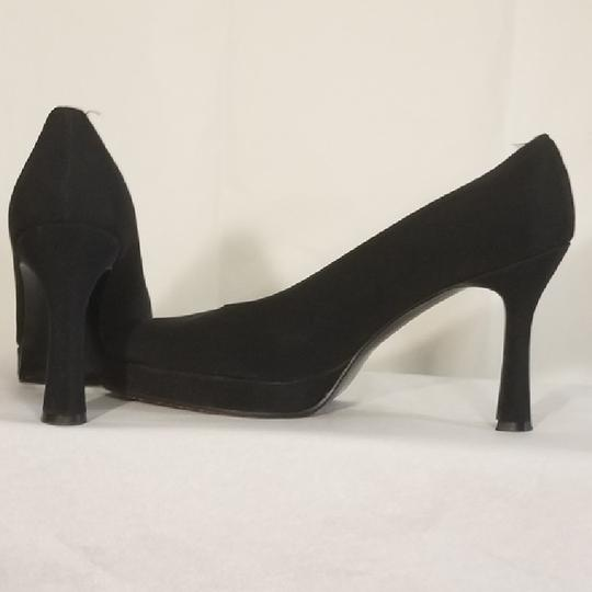 Stuart Weitzman Fabric Classic Formal Black Platforms Image 2