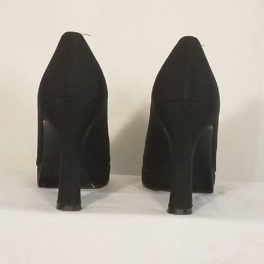 Stuart Weitzman Fabric Classic Formal Black Platforms Image 3