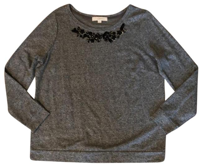 Item - Gray Black Beaded Pullover Tunic Size 12 (L)