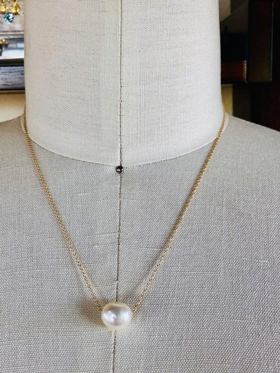 14k Gold/White South Sea Floating Pearl 16 Inch New Necklace Image 1