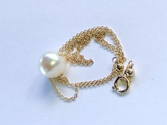 14k Gold/White South Sea Floating Pearl 16 Inch New Necklace Image 2