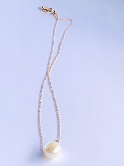 14k Gold/White South Sea Floating Pearl 16 Inch New Necklace Image 7