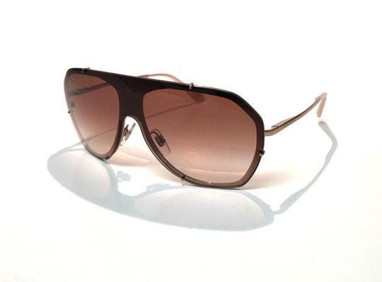 Dolce&Gabbana Vintage 90's Style Shield Rose Gold DG 2162 129813 Free 3 Day Shipping Image 6